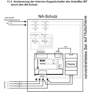 Grid Protection Device BISI NA Schutz VDE AR 4105 Set for using integrated contactors of inverter SolarMax MT